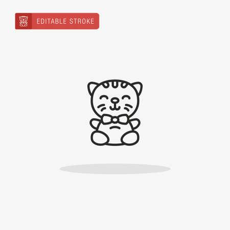 Kitten icon vector. Kitten icon for presentation. Stock Illustratie