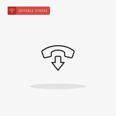 Decline icon vector. Decline icon for presentation. Vettoriali