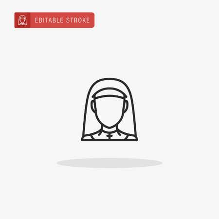 Nun icon vector. Nun icon for presentation.