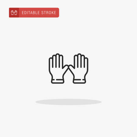 Gloves icon vector. Gloves icon for presentation.