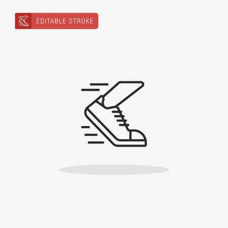 Running icon vector. Running icon for presentation. Çizim