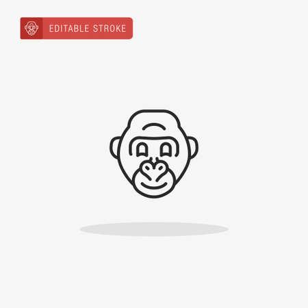 Gorilla icon vector. Gorilla icon for presentation. Illustration