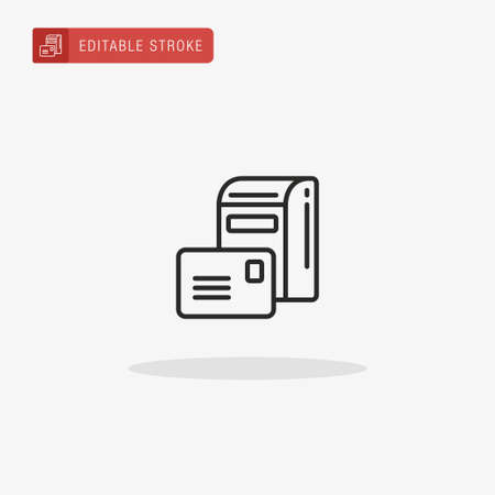 Mailbox icon vector. Mailbox icon for presentation.