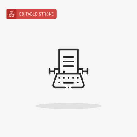 Typewriter icon vector. Typewriter icon for presentation.