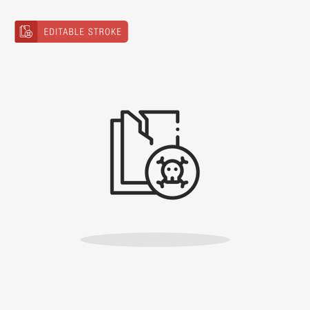 Data Loss icon vector. Data Loss icon for presentation.