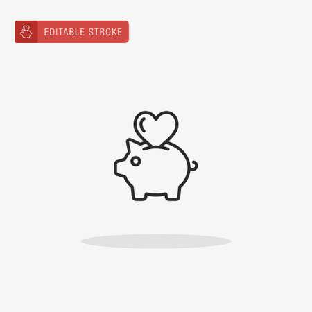 Piggy Bank icon vector. Piggy Bank icon for presentation.