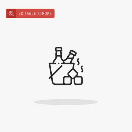Ice Box icon vector. Ice Box icon for presentation.
