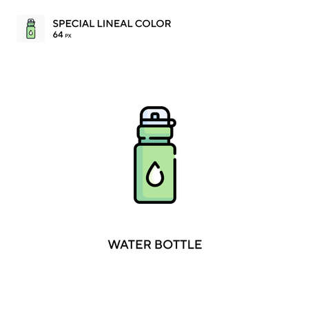 Water bottle Simple vector icon. Water bottle icons for your business project