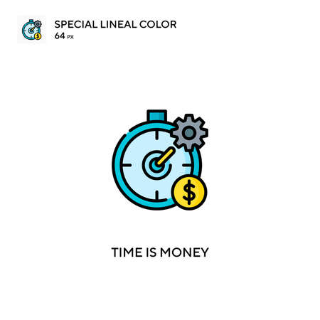 Time is money Simple vector icon. Time is money icons for your business project Vettoriali