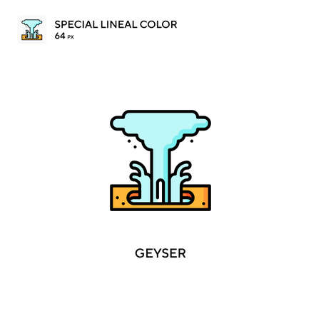Geyser Simple vector icon. Geyser icons for your business project 向量圖像
