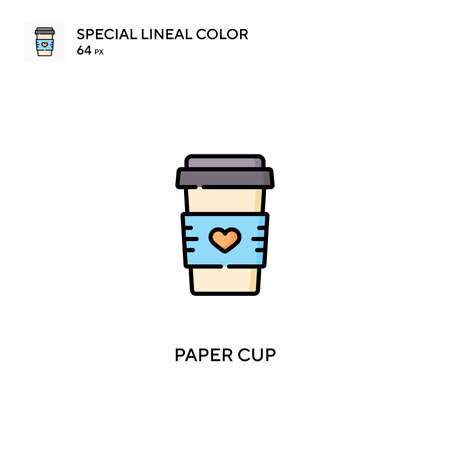 Paper cup Simple vector icon. Paper cup icons for your business project