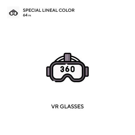 Vr glasses Simple vector icon. Vr glasses icons for your business project