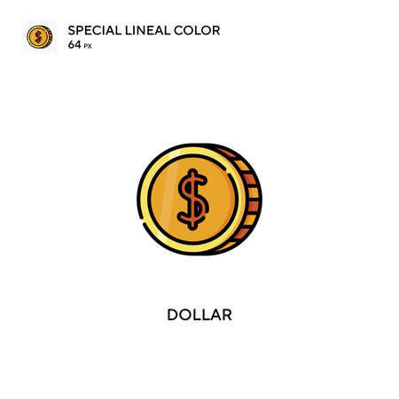 Dollar Simple vector icon. Dollar icons for your business project