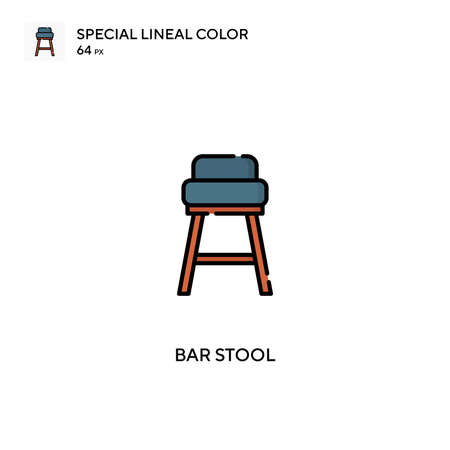 Bar stool Simple vector icon. Bar stool icons for your business project Illustration