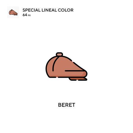 Beret Simple vector icon. Beret icons for your business project Illusztráció