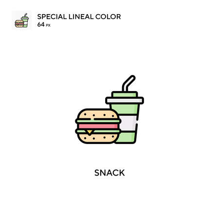 Snack Simple vector icon. Snack icons for your business project