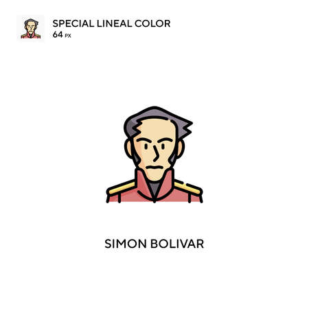 Simon bolivar Simple vector icon. Simon bolivar icons for your business project