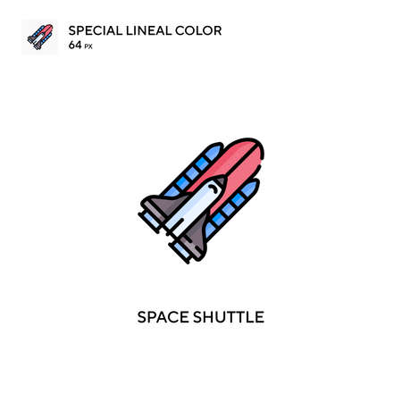 Space shuttle Simple vector icon. Space shuttle icons for your business project