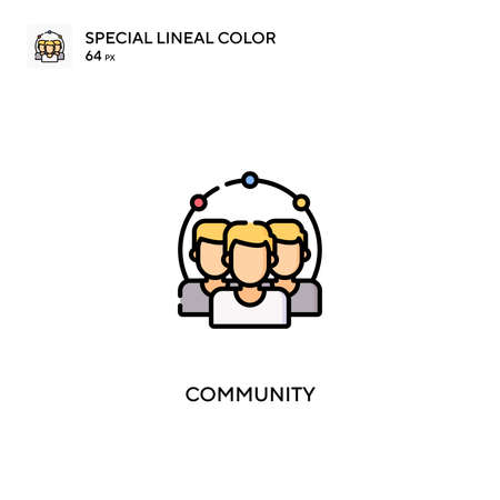 Community Simple vector icon. Community icons for your business project Ilustração