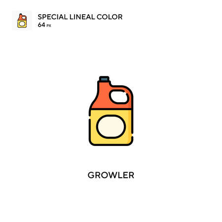Growler Simple vector icon. Growler icons for your business project