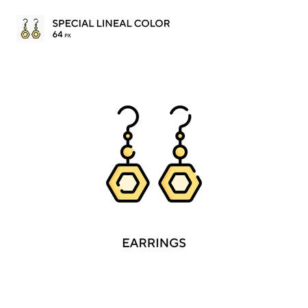 Earrings Simple vector icon. Earrings icons for your business project Illustration