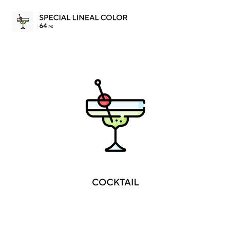 Cocktail Simple vector icon. Cocktail icons for your business project