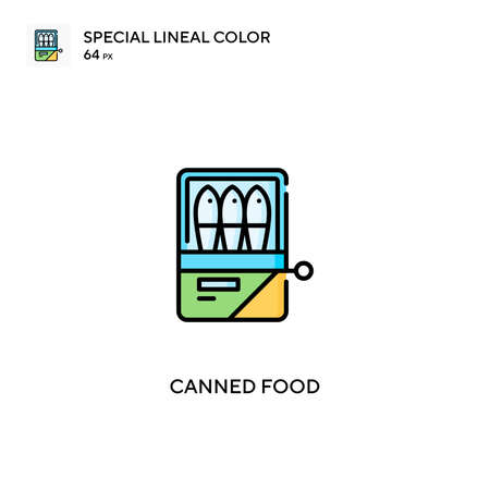 Canned food Simple vector icon. Canned food icons for your business project