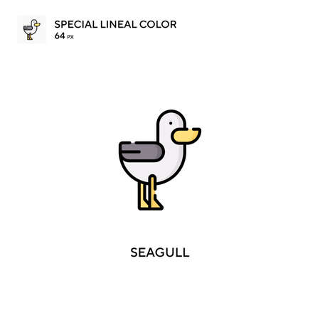 Seagull Simple vector icon. Seagull icons for your business project 向量圖像