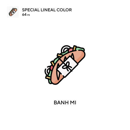 Banh mi special lineal color vector icon. Banh mi icons for your business project Иллюстрация