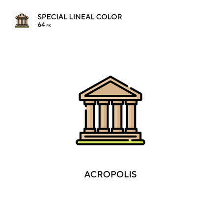 Acropolis special lineal color vector icon. Acropolis icons for your business project