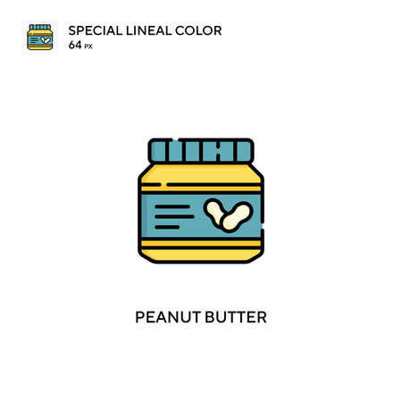 Peanut butter special lineal color vector icon. Peanut butter icons for your business project