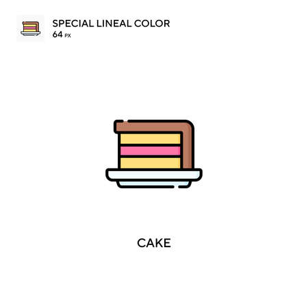 Cake special lineal color vector icon. Cake icons for your business project Ilustração