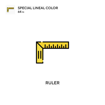 Ruler special lineal color vector icon. Ruler icons for your business project