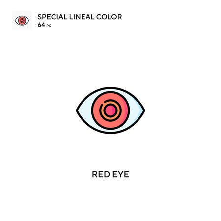 Red eye special lineal color vector icon. Red eye icons for your business project Vectores