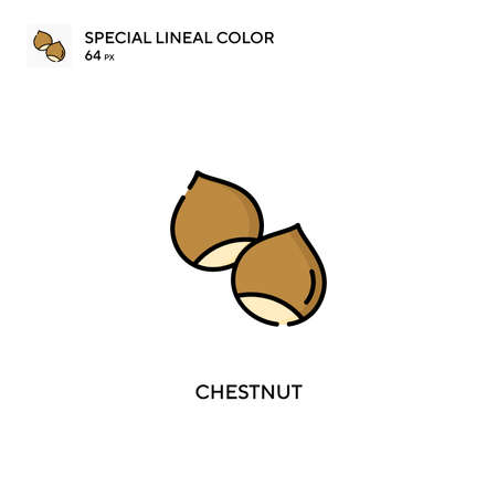 Chestnut special lineal color vector icon. Chestnut icons for your business project