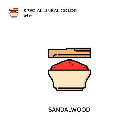 Sandalwood special lineal color vector icon. Sandalwood icons for your business project Иллюстрация