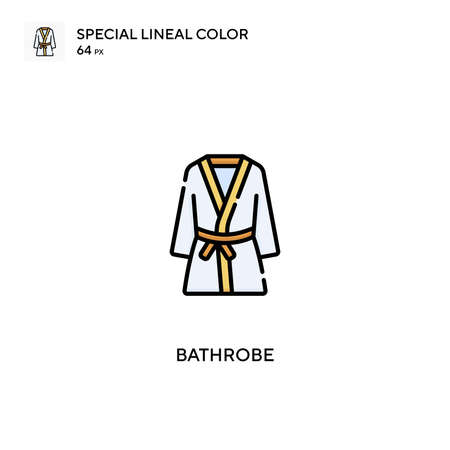 Bathrobe Special lineal color vector icon. Bathrobe icons for your business project