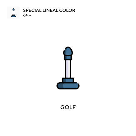 Golf Special lineal color vector icon. Golf icons for your business project