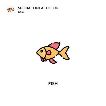 Fish Special lineal color vector icon. Fish icons for your business project