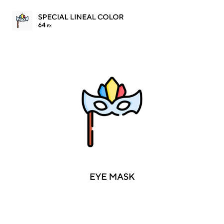 Eye mask Special lineal color vector icon. Eye mask icons for your business project