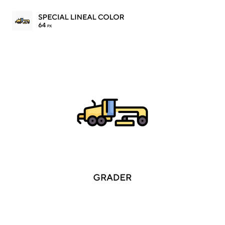 Grader Special lineal color vector icon. Grader icons for your business project