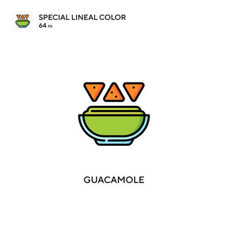 Guacamole Special lineal color vector icon. Guacamole icons for your business project
