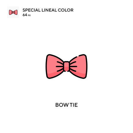Bow tie Special lineal color vector icon. Bow tie icons for your business project
