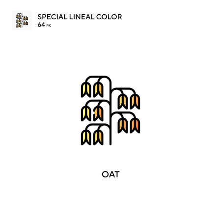 Oat Special lineal color vector icon. Oat icons for your business project