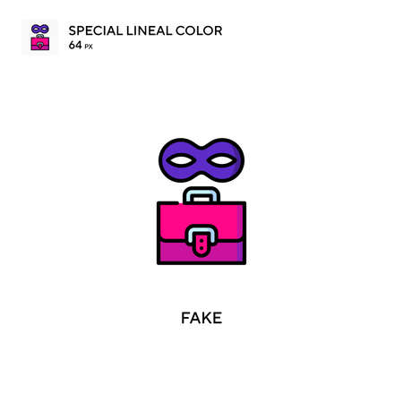 Fake Special lineal color vector icon. Fake icons for your business project