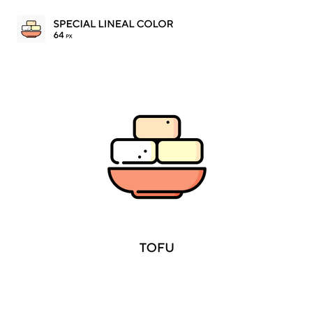 Tofu Special lineal color vector icon. Tofu icons for your business project