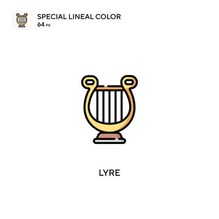 Lyre Special lineal color vector icon. Lyre icons for your business project