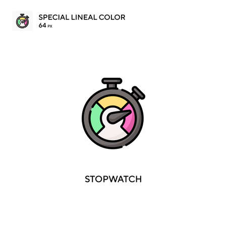 Stopwatch Special lineal color vector icon. Stopwatch icons for your business project