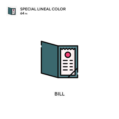Bill Special lineal color vector icon. Bill icons for your business project