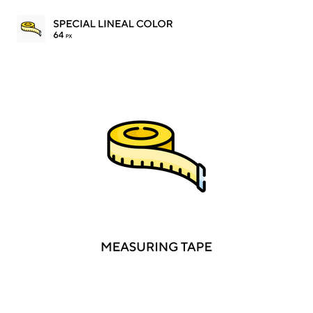 Measuring tape Special lineal color vector icon. Measuring tape icons for your business project Stock Illustratie